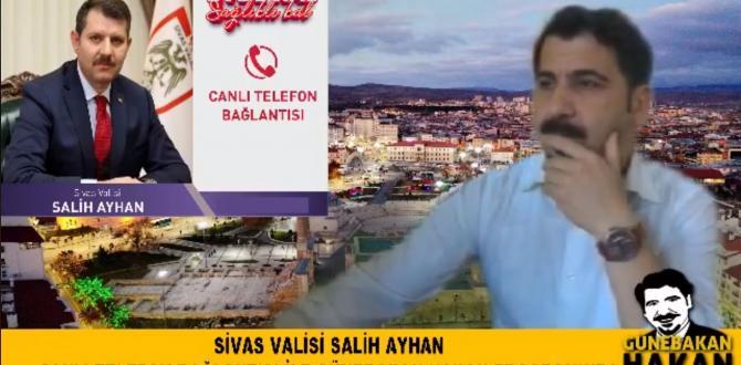 Vali Ayhan, Sosyal medyada canlı yayına katıldı