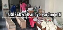 TÜSİFED 258 aileye yardım etti