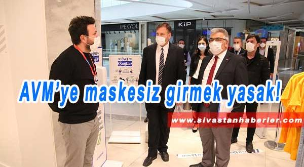 AVM'ye maskesiz girmek yasak
