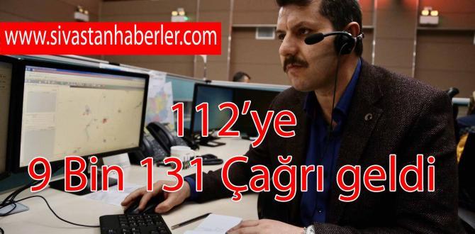 112'ye 9 Bin 131 Çağrı geldi