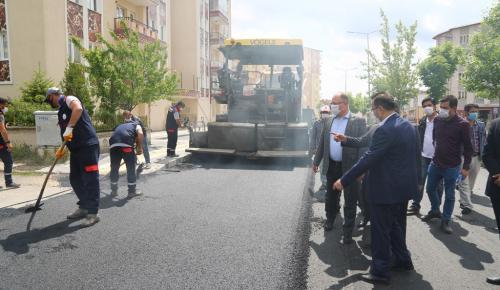Belediye 2020 yılı asfalt serim sezonunu açtı