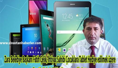 Zara Belediyesi askıda tablet kampanyası başlattı