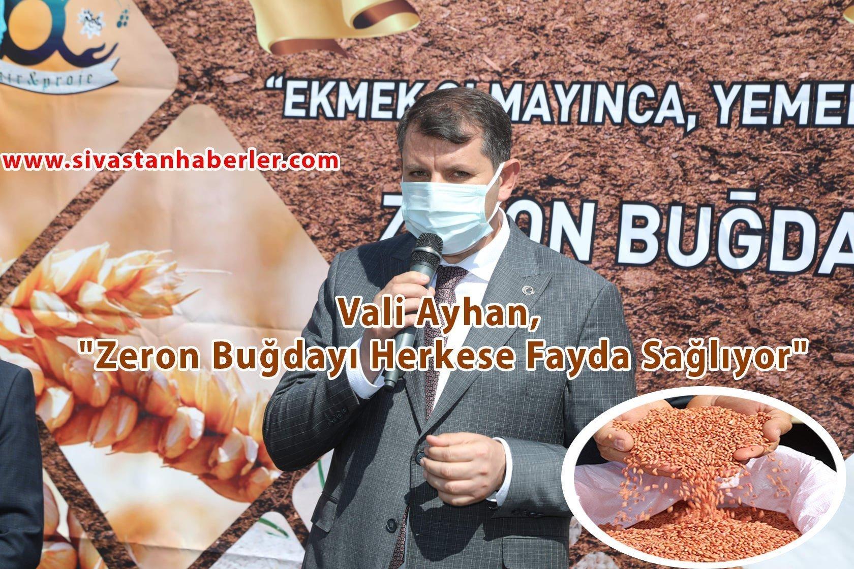 """""""Zeron Buğdayı Herkese Fayda Sağlıyor"""""""