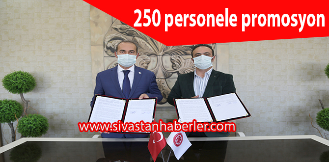250 personele promosyon
