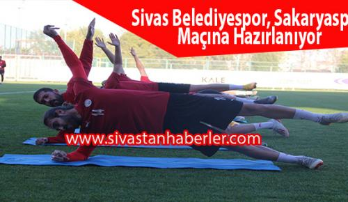 Sivas Belediyespor Sakaryaspor Maçına Hazırlanıyor