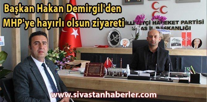Başkan Hakan Demirgil'den MHP'ye Hayırlı Olsun Ziyareti