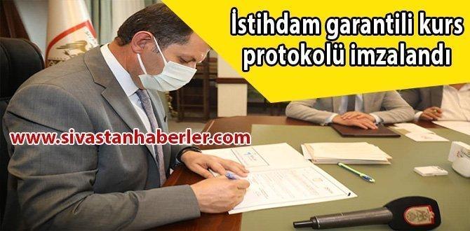 İstihdam garantili kurs protokolü imzalandı