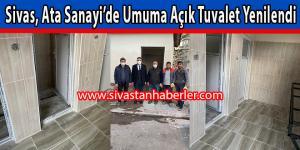 Sivas, Ata Sanayi'de Umuma Açık Tuvalet Yenilendi