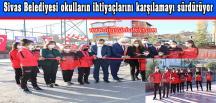 Sivas Belediyesi okulların ihtiyaçlarını karşılamayı sürdürüyor