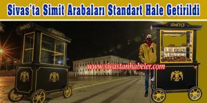 Sivas'ta Simit Arabaları Standart Hale Getirildi