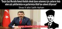 Vali Salih Ayhan, 10 Kasım Mesajı