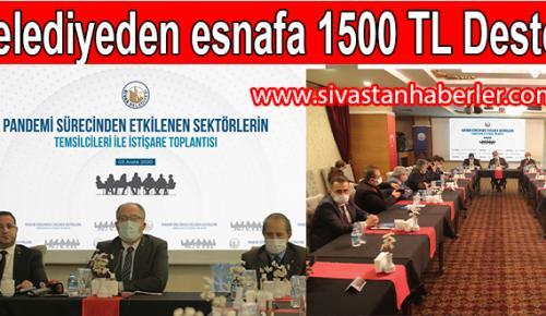 Belediyeden esnafa 1500 TL Destek