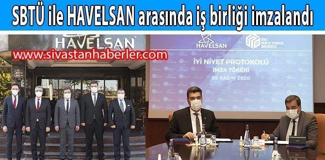 SBTÜ ile HAVELSAN arasında iş birliği imzalandı