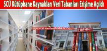 SCÜ Kütüphane Kaynakları Veri Tabanları Erişime Açıldı