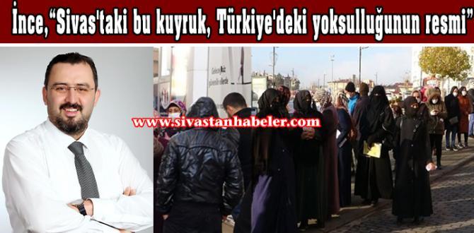 """""""Sivas'taki kuyruk, Türkiye'deki yoksulluğunun resmi"""""""