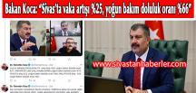 """Bakan Koca: """"Sivas'ta vaka artışı %25, yoğun bakım doluluk oranı %66"""""""