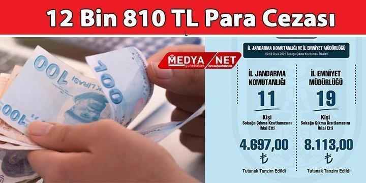 12 Bin 810 TL Para Cezası