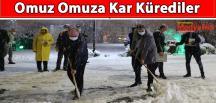 Omuz Omuza Kar Kürediler