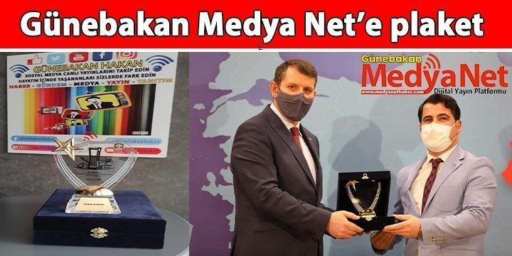 Günebakan Medya Net'e plaket