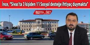 """Başkan ince, """"Sivas'ta 3 Kişiden 1'i Sosyal Desteğe Muhtaç"""""""