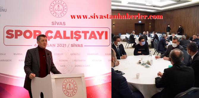 "Sivas'ta ""Sivas Spor Çalıştayı"" başladı"