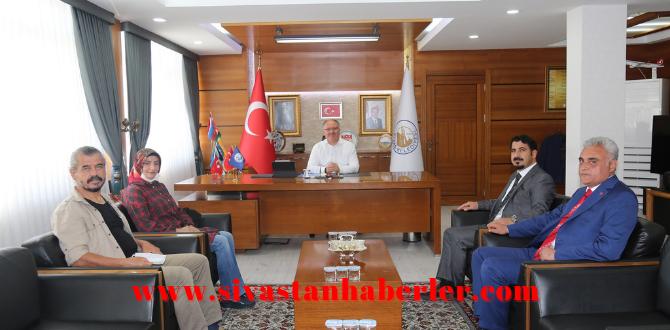 Sivas Turizm Derneği, Belediye Başkan'ı Bilgi'ni Ziyaret Etti