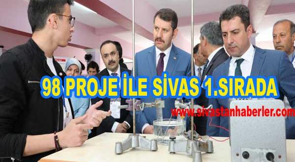 98 PROJE İLE SİVAS 1.SIRADA